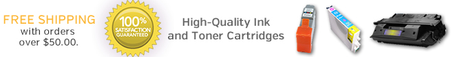 High-Quality Ink and Toner Cartridges - 100% Satisfaction Guaranteed